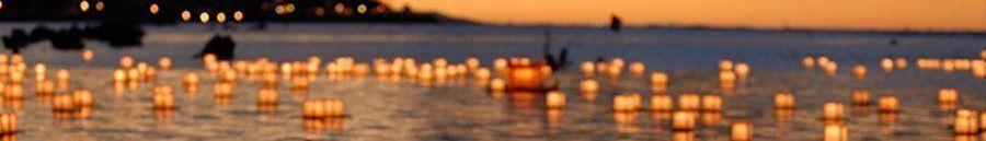 Lanterne d'acqua galleggianti