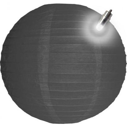 Lanterna di carta LED 30cm grigio