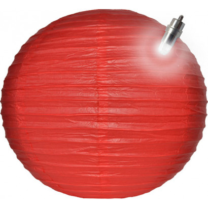 Lanterna di carta LED 25cm rosso