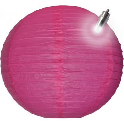 Lanterna di carta LED 30cm fuchsia