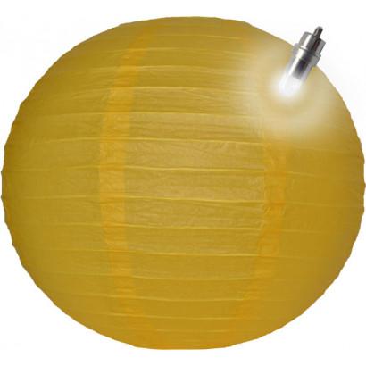 Lanterna di carta LED 30cm giallo