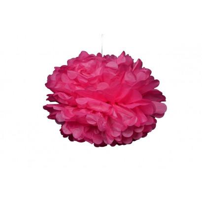 Pon pon di carta 20cm, rosa chiaro