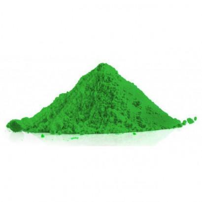 Polvere colorata holi verde