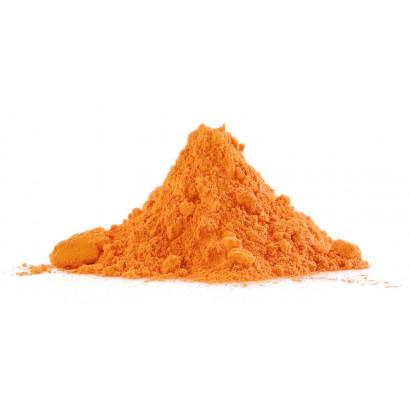 Polvere colorata holi arancione