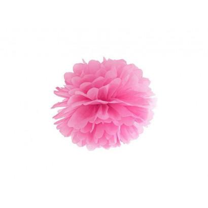 Pon pon di carta 20cm, rosa