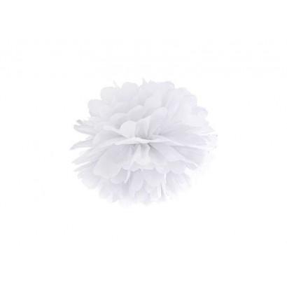 Pon pon di carta 20cm, bianchi