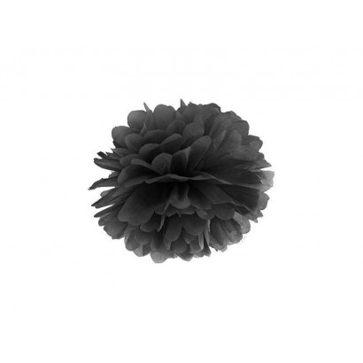 Pon pon di carta 20cm, nero
