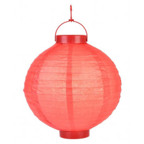 Lanterna di carta luminosa LED 20 cm, rosse