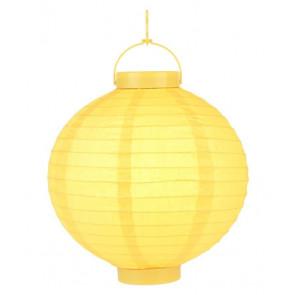 Lanterna di carta luminosa LED 20 cm, gialle