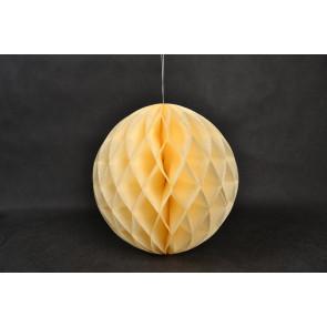 Palle di Carta a nido d'ape Honeycomb 40cm beige