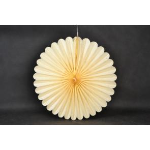 Ventaglio decorativo di carta 40cm beige