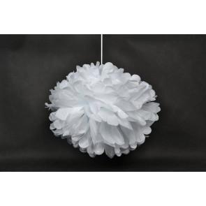 Pon pon di carta 40cm, bianco