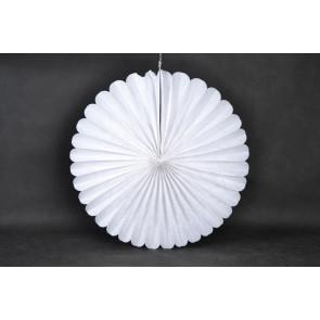 Ventaglio decorativo di carta 40cm bianco