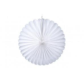Ventaglio decorativo di carta, bianco 20 cm