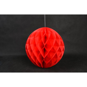 Palle di Carta a nido d'ape Honeycomb 30cm rosso