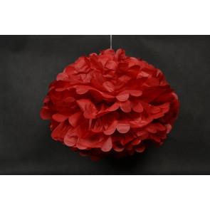 Pon pon di carta 40cm, rosso