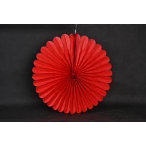 Ventaglio decorativo di carta 40cm rosso