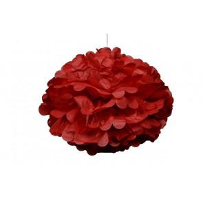 Pon pon di carta 20cm, rosso