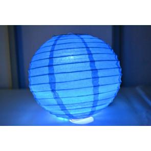 Lanterna di carta LED 40cm blu