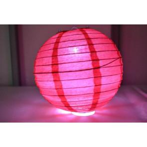 Lanterna di carta LED 30cm rosso