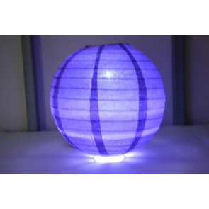 Lanterna di carta LED 40cm viola