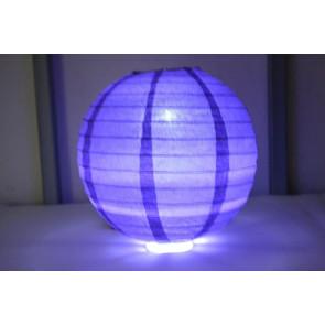 Lanterna di carta LED 30cm viola