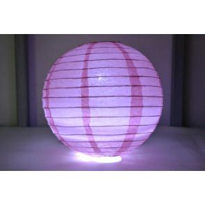 Lanterna di carta LED 20cm rosa