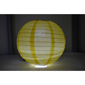 Lanterna di carta LED 40cm giallo