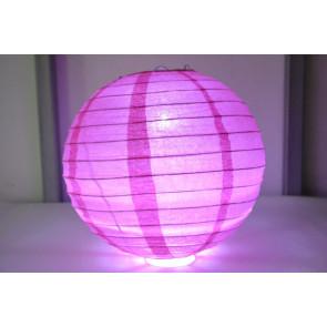 Lanterna di carta LED 20cm fuchsia