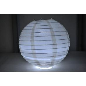 Lanterna di carta LED 40cm beige
