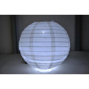 Lanterna di carta LED 20cm bianco