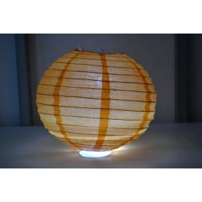 Lanterna di carta LED 20cm arancione