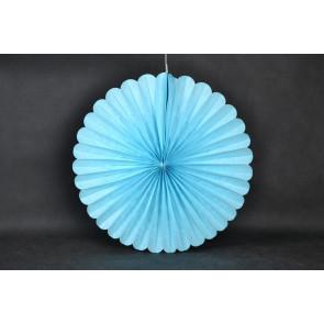Ventaglio decorativo di carta 40cm blu