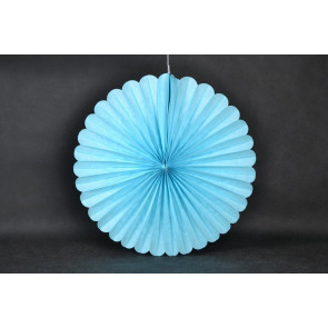 Ventaglio decorativo di carta 20cm blu