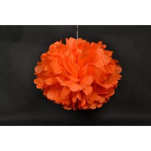 Pon pon di carta 40cm, arancio