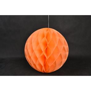 Palle di Carta a nido d'ape Honeycomb 20cm arancio