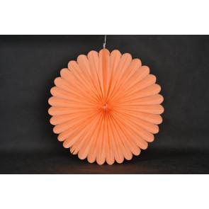 Ventaglio decorativo di carta 40cm arancione