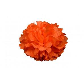 Pon pon di carta 20cm, arancio chiaro