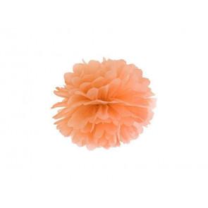 Pon pon di carta 35cm, arancio chiaro