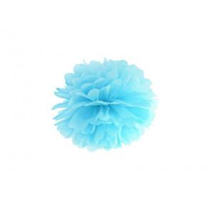 Pon pon di carta 20cm, azzurro