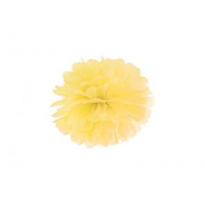 Pon pon di carta 20cm, giallo
