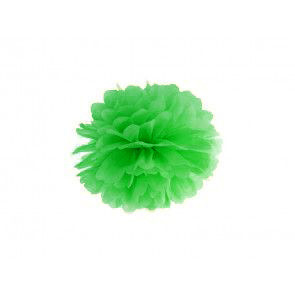 Pon pon di carta 35cm, verde