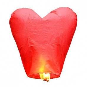 Lanterna Volante Rossa Cuore