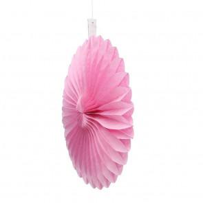 Ventaglio decorativo di carta 20cm rosa