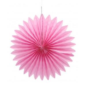 Ventaglio decorativo di carta, rosa 20 cm
