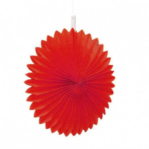 Ventaglio decorativo di carta, rosso 20 cm