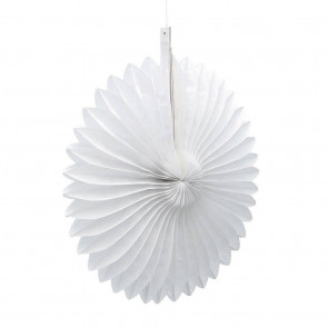 Ventaglio decorativo di carta 20cm bianco