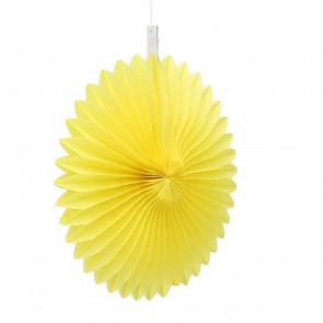 Ventaglio decorativo di carta 20cm giallo