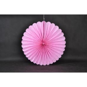 Ventaglio decorativo di carta 50cm rosa