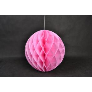 Palle di Carta a nido d'ape Honeycomb 40cm rosa